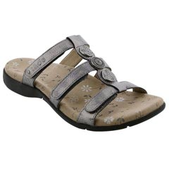 Taos Prize 3 Leather Pewter Sandals