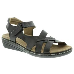 Taos Retreat Leather Black Sandals