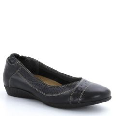 Taos Sleek Leather Black Shoes