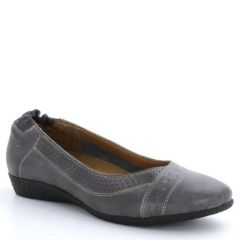 Taos Sleek Leather Grey Shoes