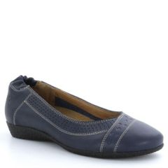 Taos Sleek Leather Navy Shoes