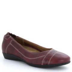 Taos Sleek Leather Wine Shoes