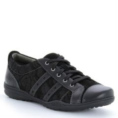 Taos Streamline Leather Black Shoes