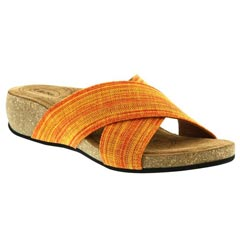 Taos Sunshine Textile Orange Multi Sandals