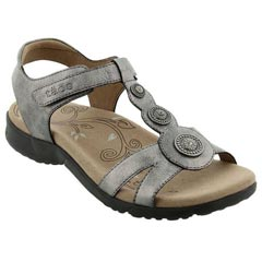Taos Treasure 2 Leather Pewter Sandals