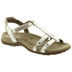 Taos Trophy Leather Vintage Silver Sandals