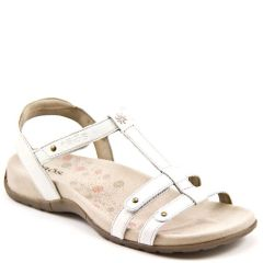 Taos Trophy Leather White Sandals