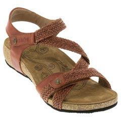 Taos Trulie Leather Brick Sandals