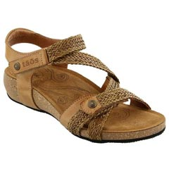 Taos Trulie Leather Camel Sandals