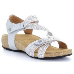 Taos Trulie Synthetic Silver Sandals