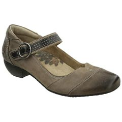 Taos Virtue Leather Taupe Shoes