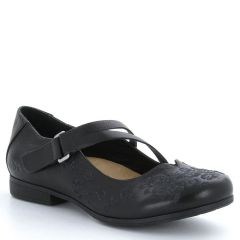Taos Wish Leather Black Shoes