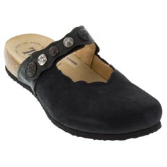 Think Julia Leather Black Clogs