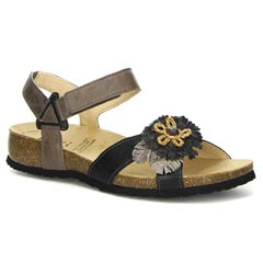 Think Julia Leather Black Sandals