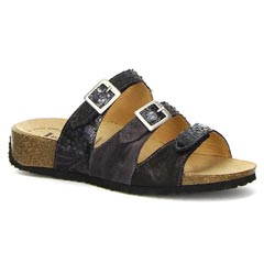 Think Mizzi Leather Black Sandals