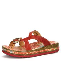 Think Zega Leather Chilli Sandals