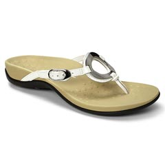 Vionic Karina Leather White Sandals