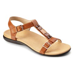 Vionic Lennox Leather Cinnamon Sandals
