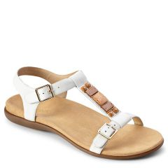 Vionic Lennox Leather White Sandals