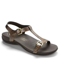 Vionic Adriane Leather Bronze Sandals