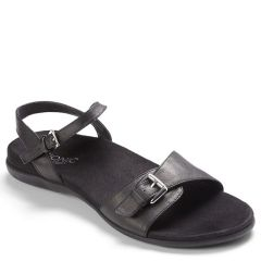 Vionic Alita Leather Black Sandals