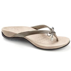 Vionic Bella 2 Synthetic Pewter Sandals