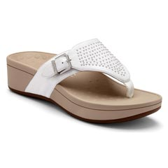 Vionic Capitola Leather White Sandals