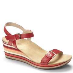 Vionic Enisa Leather Red Sandals