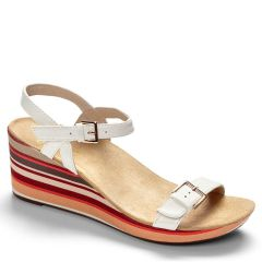 Vionic Enisa Leather White Sandals