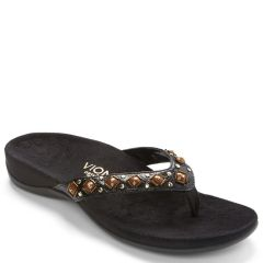 Vionic Floriana Synthetic Black Croco Sandals