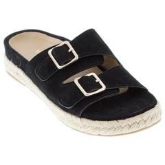 Vionic Gia Suede Black Sandals