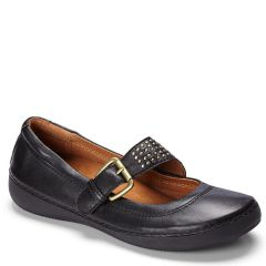 Vionic Goleta Leather Black Shoes