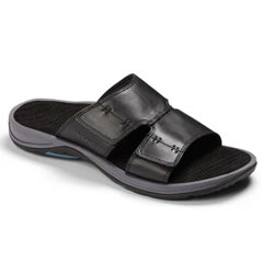 Vionic Jon Leather Black Sandals