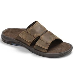 Vionic Jon Leather Brown Sandals