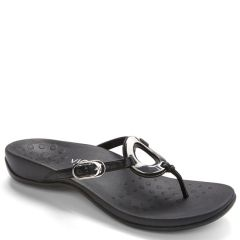 Vionic Karina Leather Black Sandals