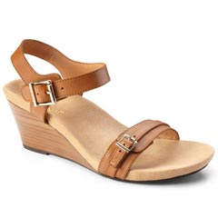 Vionic Laurie Leather Tan Sandals