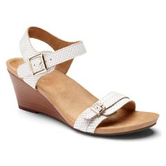 Vionic Laurie Leather White Sandals