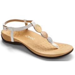 Vionic Lizbeth Leather White Sandals