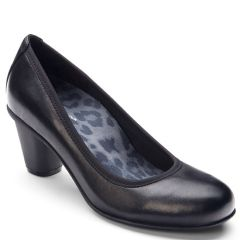 Vionic Mabrey Leather Black Shoes