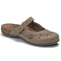 Vionic Midway Synthetic Taupe Clogs
