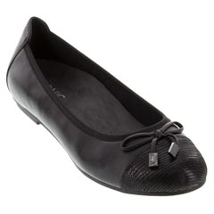 Vionic Minna Leather Black Shoes