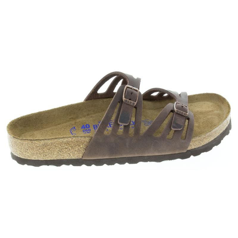 Womens Birkenstock Granada Habana Oiled Leather Soft Footbed - Happyfeet.Com