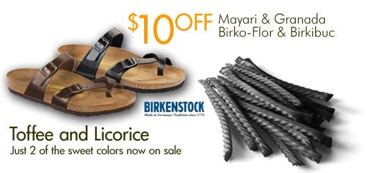 Save $10 on Birkenstock Mayari & Granada