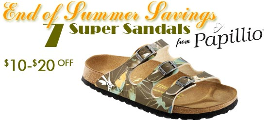Save $10-$20 on Seven Select Papillio Sandals