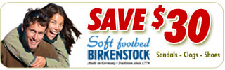Save $30 on Birkenstock Soft Footbed Sandals, Shoes & Clogs