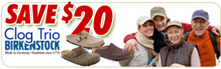 Save $20 on Birkenstock Boston, Amsterdam & Basel Clogs