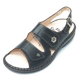 Finn Comfort Milos Leather Soft Footbed Black