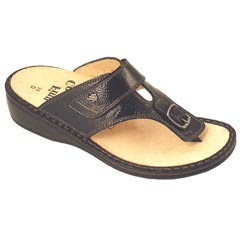 Finn Comfort Phuket Leather Soft Footbed Black
