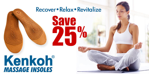 Save 25% on Kenkoh Insoles at Happy Feet Plus