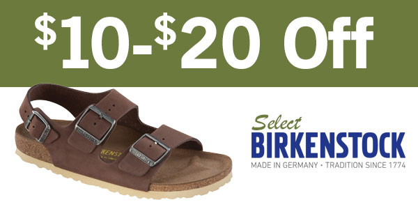 $10-$20 Off Selected Birkenstock Family Footwear
